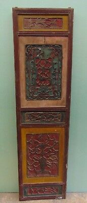 """Antique Architectural Salvaged Victorian Wood Carved Panel  64"""" x 17 1/2"""""""