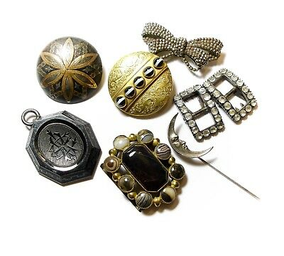Collection Of Old Jewellery Bits Joblot Lot (B1)