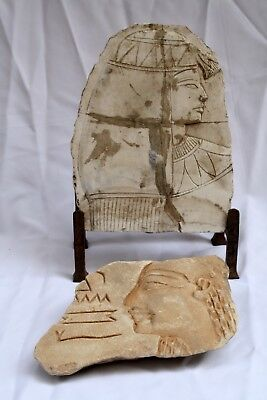 Magnificent 2500 Years Old Egyptian Hand Carved Stones, With Stand