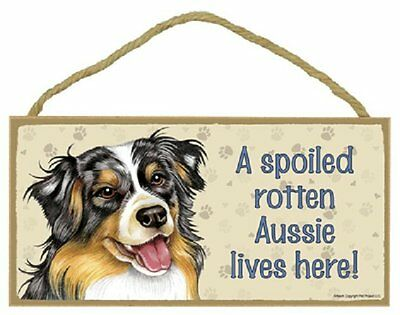 Australian Shepherd Wood Dog Sign Wall Plaque 5 x 10 New Made in USA