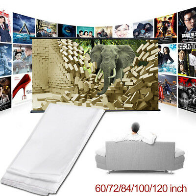 Movie Screen Projection Screen Portable Soft Office Squares Weddings Theater