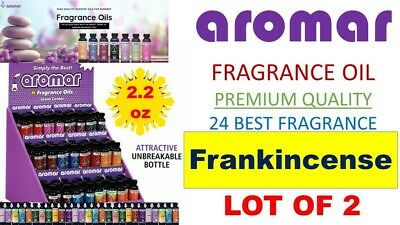 2 Aromar Aromatherapy Essential Fragrance 100% Concentrate Oil FRANKINCENSE 2X