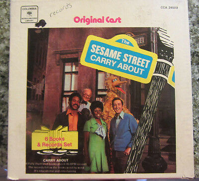 Vintage Sesame Street Carry About Record & Book set. ..........g