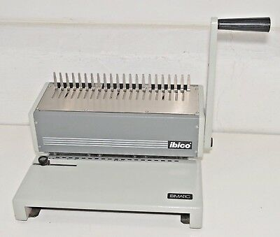 Ibico Ibimatic Heavy Duty Metal Manual Comb Binding - Punch Machine