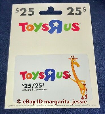 "Toys R Us Canada Gift Card ""geoffrey The Giraffe Mascot"" No Value New Hanger"