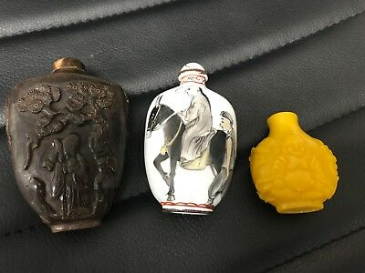 chinese old snuff bottles