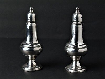 Vintage Empire Sterling Salt Pepper Shakers Weighted #246 Glass Lined Usa Fs