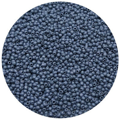 Lot of 2500pcs DIY 11/0 Rocaille 1.8mm Small Round Glass Seed Beads gray