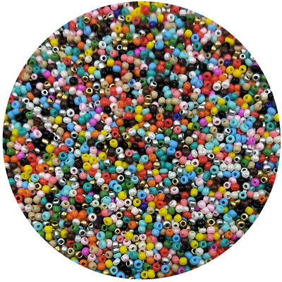 Lot of 2500pcs DIY 11/0 Rocaille 1.8mm Small Round Glass Seed Beads mix
