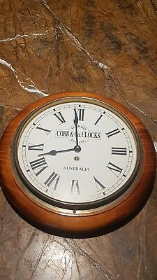 Cobb & Co Aus Made Timber Wall Clock .Great USED condition. Roman numerals!!!!