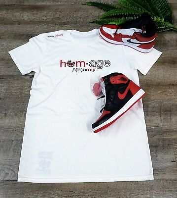 bff8df77591 PAY HOMAGE TO A Legend Men's T-Shirt Jordan 1 Retro Homeage To Home ...