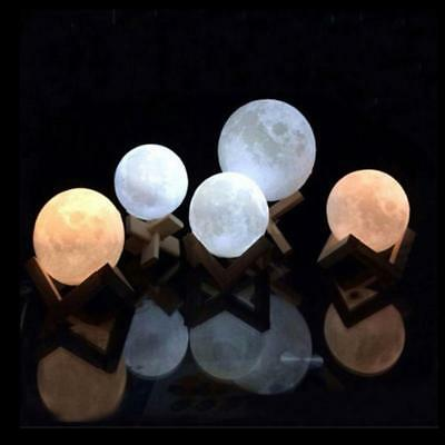 LED 3D stampato Luna Night Light Ricaricabile Moon Lamp Touch Control Lighting