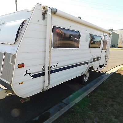 caravan 17ft gazel pop top 1999 model