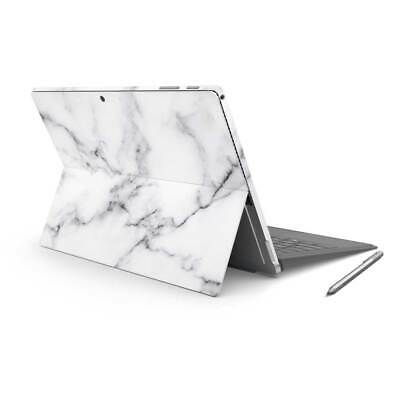 White Marble Removable Vinyl Skin Sticker Wrap to Cover Surface Pro Back & Sides
