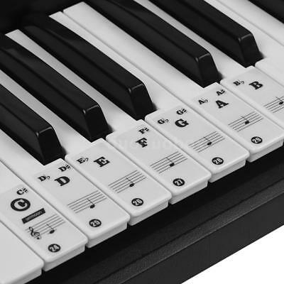 ammoon Piano Keyboard Stickers for 37/ 49/ 61/ 88 Key Keyboards Removable X8G5