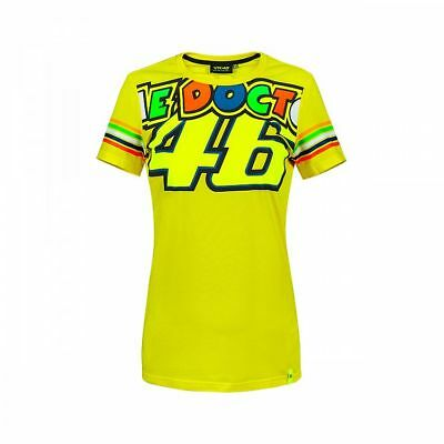 VR46 Official Valentino Rossi 2018 Yellow Stripe Womans T'Shirt  - VRWTS 307001