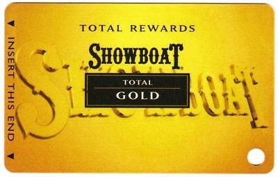 SHOWBOAT casino*Total Gold*las vegas*BLANK*Slot/Players card*Fast Free Shipping!