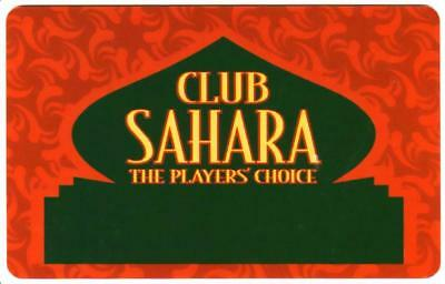SAHARA casino *CLUB SAHARA*las vegas*BLANK*Slot/Players card*Fast Free Shipping!