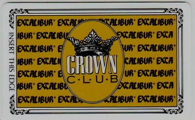 EXCALIBUR casino*GOLD crown club* las vegas*BLANK*Slot/Players card*free ship!