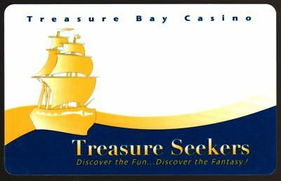 TREASURE BAYcasino *Tresure seekers NO arrows* BILOXI MS*BLANK*Slot/Players card