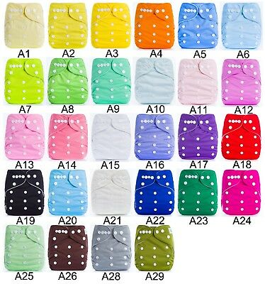 20PCS Adjustable Reusable Lot Baby Kids Boy Girls Washable Cloth Diaper Nappies