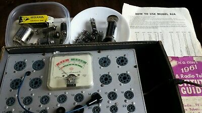 Superior Instruments Rapid Tube Tester Model 82A With 14 Tubes & Manual TESTED