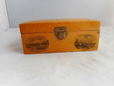 MAUCHLINE WARE BOX-12.75x7.5cms and 5cms high-TRANSFERS OF CROMER