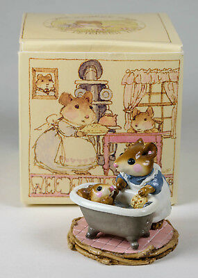 1983 Wee Forest Folks Momma Mouse and Baby 2 pcs