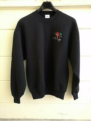 Vintage Las Vegas The Mirage Casino stitched Dolphins Black Sweater USA size MED