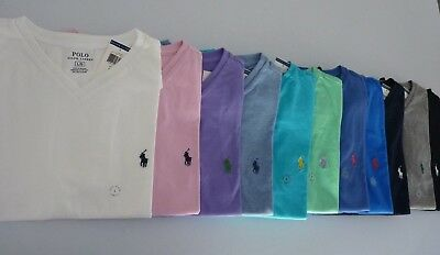 NWT Polo Ralph Lauren V Neck Solid T-Shirts for Man  S M L XL XXL