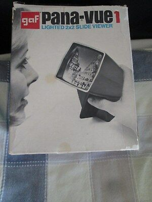 GAF Pana-Vue1 2 x 2 Lighted Film Slide Viewer Vintage