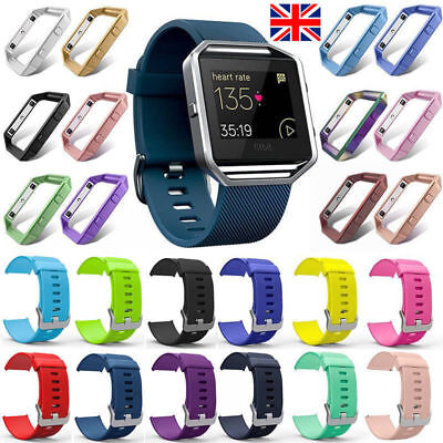 Fitbit Blaze Replacement Wrist Band Strap And With Metal Frame Small/Large Sizes