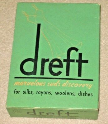 Vintage Dreft Soap Detergent Cleaning Unopened Small Box Laundry Procter &Gamble