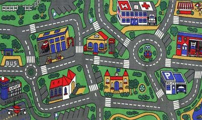 New Children's Mats Baby Kids Rug CITY ROADS Car Play Mat Track Floor 100x150cm