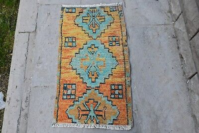 Small Rug Turkish Rug Oushak Rug Entry Rug Orange Rug Turquoise Rug Vegeta 1227e