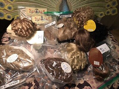 Lot 15 Vintage Doll Wigs NOS dif Brands Styles Colors Sizes Tagged