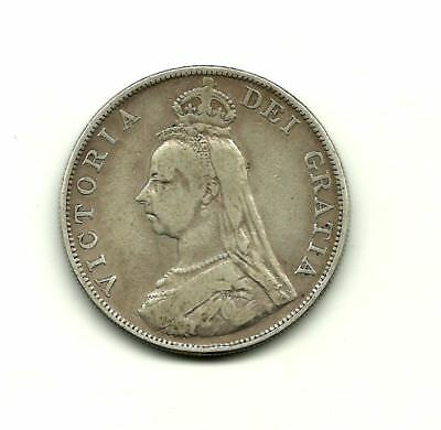 United Kingdom – Double Florin 1889 (Arabic 1) Victoria – silver - VF