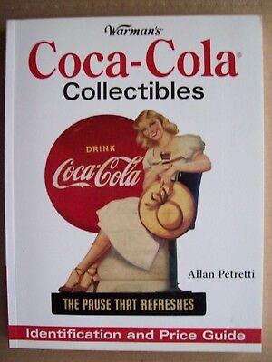 ANTIQUE COKE COCA COLA $$$ PRICE GUIDE COLLECTORS BOOK Bottle Cans Color Pics ++