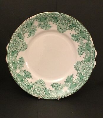 Early 20th Century Allerton Ceramic Cake/Sandwich Plate Green 'Como' Pattern