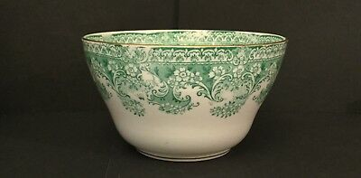 Early 20th Century Allerton Ceramic Rice Bowl Green 'Como' Pattern 3.5 inch High