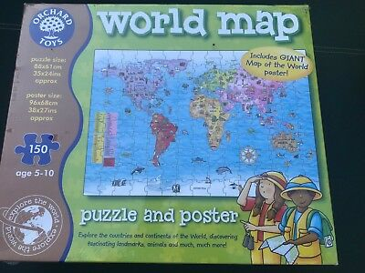 Orchard toys world map jigsaw puzzle poster 150 pieces vgc orchard toys world jigsaw map puzzle poster giant kids geography children travel gumiabroncs Image collections