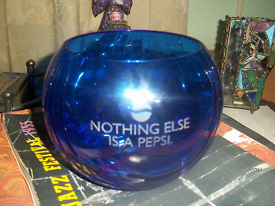 """Rare Crystalleria Italiano Bowl W/ Pepsi Ad """" Nothing Else Is A Pepsi """"  Signed"""