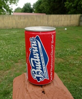 RARE 12oz BUDWINE CHERRY SODA CAN CHEERWINE SUN DROP PEPSI