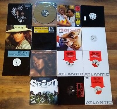 15 Vinyls: Sean Paul (Like Glue, Gimme the Light, Get Busy), Beyonce, Lopez