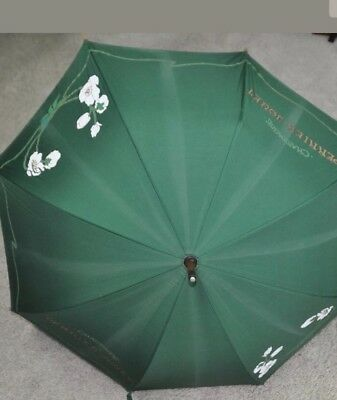 "Vintage CHAMPAGNE PERRIER JOUET UMBRELLA VERY RARE.  36"" Tall.. New & Never Used"