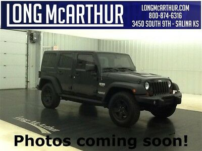 "Jeep Wrangler ULIMITED CALL OF DUTY MW3 4X4 3.6 V6 5 SPEED AUTOMATIC SUV PERFORMANCE SUSPENSION TRACTION CONTROL 17"" PAINTED ALUMINUM WHEELS"