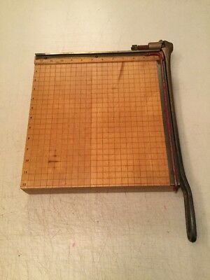 Ingento No. 4 Guillotine Paper Cutter pictures cards trimmer 12 x 12 vintage USA