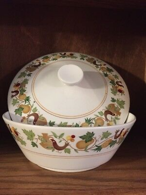 Noritake Progression China HOMECOMING  covered round vegetable bowl