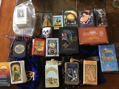 Lot Of 17 Tarot Cards Decks Some HTF OOP 1st Edition Vintage Various Condition