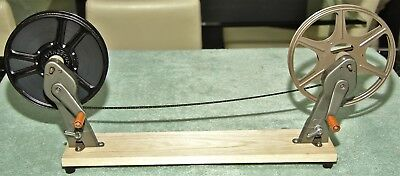 MARGUET 9.5mm REWIND ARMS ON WOODEN BASE - very rare